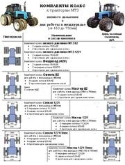 Комплекты сдвоенных колес низкого давления к МТЗ