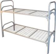 двухъярусные и одноярусные кровати металлические со спинками из ДСП