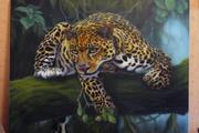 продам картину с животным гепард