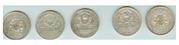 Пять серебрянных полтинников 20-х годов