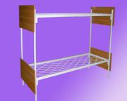 Металлические кровати с ДСП спинками для пансионатов,  для гостиниц