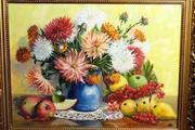 Картины с пышными яркими цветами