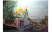 вид от нижегородского кремля на пл.согласия в нижнем новгороде
