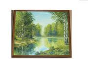 картина пейзаж на озере для подарка