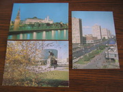 3 почтовых открытки Москва 1986