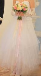 свадебное платье-трансформер +длинные перчатки