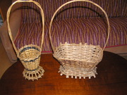 Корзины для цветов или конфет  плетеные 3шт