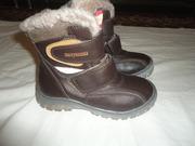 Ботинки детские,  новые,  зимние,  размер 28.