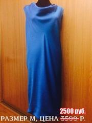 Платье ярко-голубое