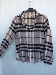 Стильная рубашка из шелка