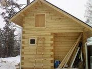 Строительство дома,  бани. Фундамент. Сруб. Крыша.  Красноярск