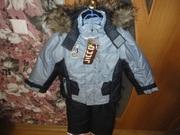 Костюм курточка+комбез зимний новый 128 см (6-8 лет)